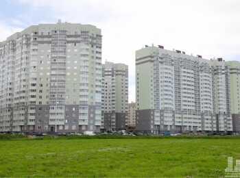 Панорама трех корпусов ЖК Бугры